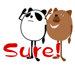 Panda-like creature English ver sticker #831127