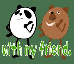 Panda-like creature English ver sticker #831128