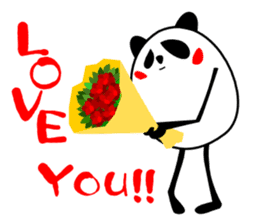 Panda-like creature English ver sticker #831145