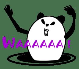 Panda-like creature English ver sticker #831150