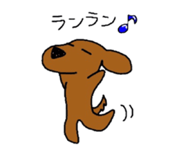 Feeling of the Dachshund name is Turkey sticker #832019