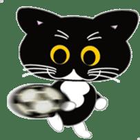 Socks black cat Yan Cara sticker #832646