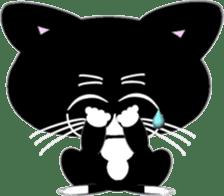 Socks black cat Yan Cara sticker #832653