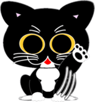 Socks black cat Yan Cara sticker #832654
