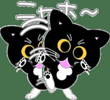 Socks black cat Yan Cara sticker #832660
