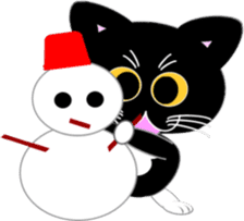 Socks black cat Yan Cara sticker #832668
