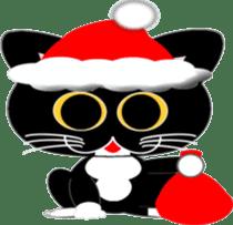 Socks black cat Yan Cara sticker #832671