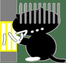 Socks black cat Yan Cara sticker #832677