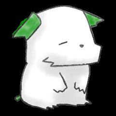 green little puppy