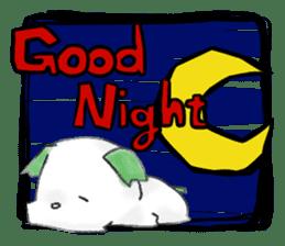 green little puppy sticker #835320