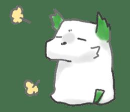 green little puppy sticker #835326