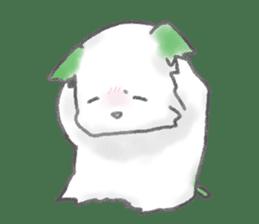 green little puppy sticker #835330
