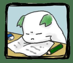 green little puppy sticker #835333
