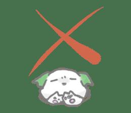 green little puppy sticker #835340
