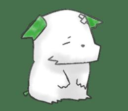 green little puppy sticker #835356