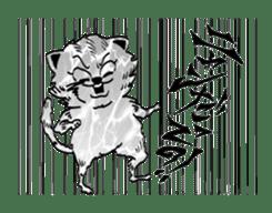 UZA KAWAII Cat Stamp sticker #836341