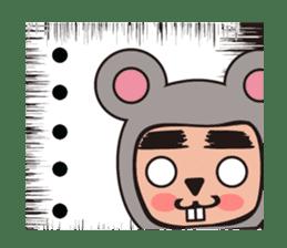 costume boy sticker #838420