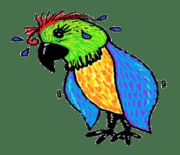 Cute whimsical animals sticker #841440