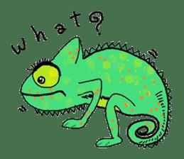 Cute whimsical animals sticker #841446