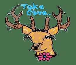 Cute whimsical animals sticker #841449