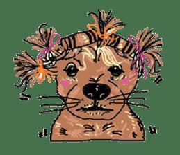 Cute whimsical animals sticker #841452