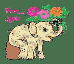 Cute whimsical animals sticker #841454