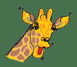 Cute whimsical animals sticker #841457