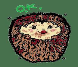 Cute whimsical animals sticker #841459