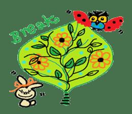 Cute whimsical animals sticker #841461