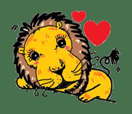 Cute whimsical animals sticker #841462
