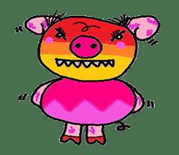 Cute whimsical animals sticker #841466