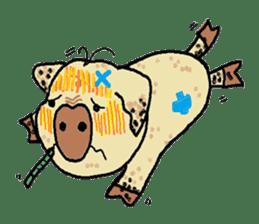 Cute whimsical animals sticker #841467