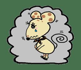 Cute whimsical animals sticker #841471