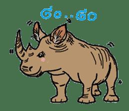 Cute whimsical animals sticker #841472