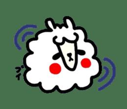 Alpaca of drooping eyes(Reaction series) sticker #842039