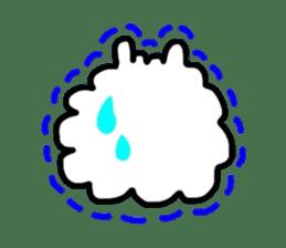 Alpaca of drooping eyes(Reaction series) sticker #842040