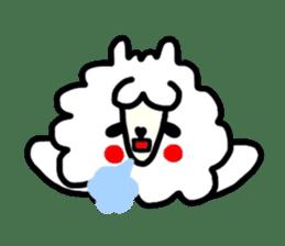 Alpaca of drooping eyes(Reaction series) sticker #842041