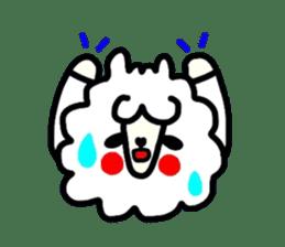 Alpaca of drooping eyes(Reaction series) sticker #842043