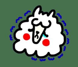 Alpaca of drooping eyes(Reaction series) sticker #842044
