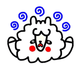 Alpaca of drooping eyes(Reaction series) sticker #842046