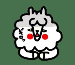 Alpaca of drooping eyes(Reaction series) sticker #842047