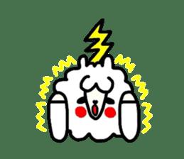 Alpaca of drooping eyes(Reaction series) sticker #842049