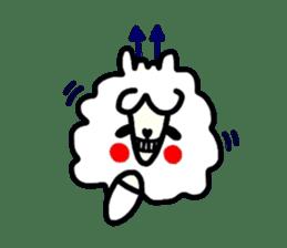 Alpaca of drooping eyes(Reaction series) sticker #842052