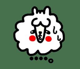 Alpaca of drooping eyes(Reaction series) sticker #842055