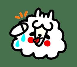 Alpaca of drooping eyes(Reaction series) sticker #842056