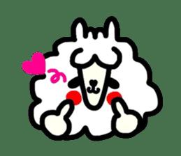 Alpaca of drooping eyes(Reaction series) sticker #842058