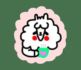 Alpaca of drooping eyes(Reaction series) sticker #842060