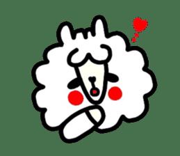 Alpaca of drooping eyes(Reaction series) sticker #842061