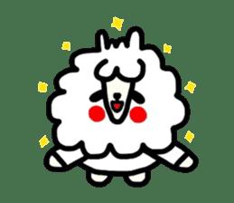 Alpaca of drooping eyes(Reaction series) sticker #842069