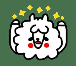 Alpaca of drooping eyes(Reaction series) sticker #842070